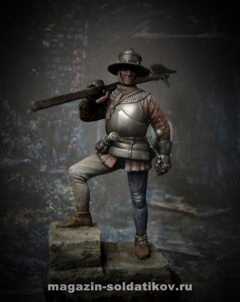 Swiss warrior, 54 mm. Mercury Models