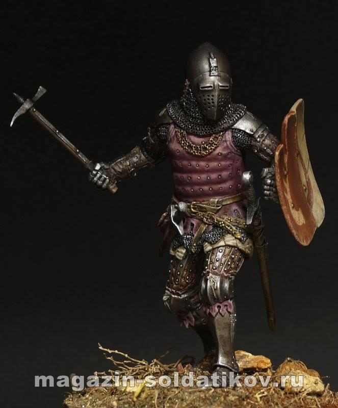 Medieval knight 14 ct, 75 mm. Mercury Models