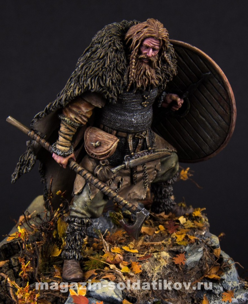 Viking warrior, 75 mm. Mercury Models