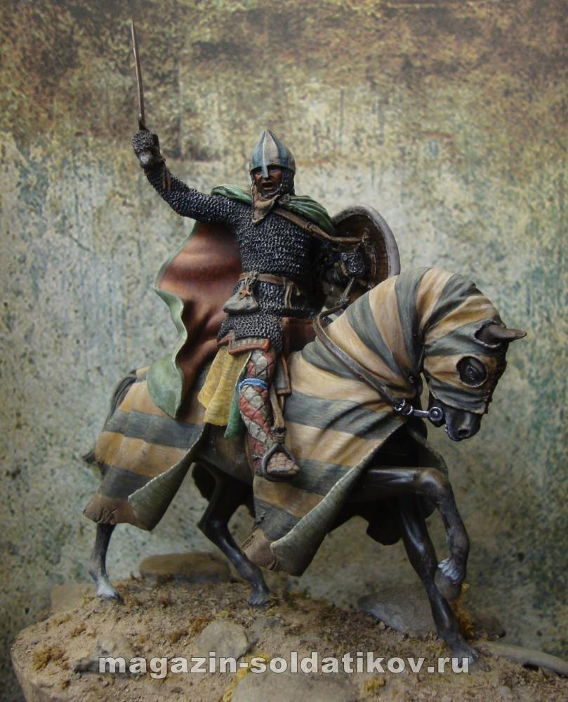 Mounted knight late 12th c, 54 mm. Mercury Models