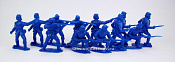 TMP101A Union 12 figures in 4 poses (blue) 1:32, Timpo