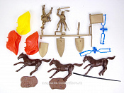 TMP115A Knights 3 mtd, 3 horses & 13 accessories 1:32, Timpo
