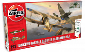 50179 А Самолеты JU87R-2 Gloster Gladiator Dog Fight Double Gift Set (1:72) Airfix