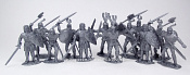 TMP116A Knights afoot 10 figures (silver) 1:32, Timpo