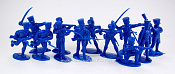 TMP106C Prussian Infantry 12 fig's in 8 poses blue 1:32, Timpo