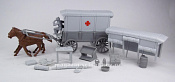 CTS754D Ambulance (brown) w/2 diff. (gray) tops & (gray driver), 1:32 ClassicToySoldiers