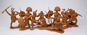 TMP113A Indians 12 figures in 8 poses (rust) 1:32, Timpo