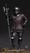 MM-7502 Medieval European man-at-arms XVcentury, 75 mm. Mercury Models