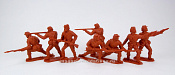 TMP101C Union 9 figures in 4 poses (red brown) 1:32, Timpo