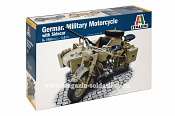 7403 ИТ German Military Motorcycle with side car (1:9) Italeri