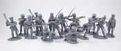 TMP106A Prussian Infantry 16 figures in 8 poses (gray) 1:32, Timpo