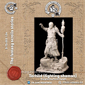 D-75-002 Torhild (fighting shaman), 75 mm (1:24) Medieval Forge Miniatures