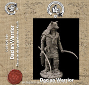 C-75A-006 Dacian Warrior, 75 mm (1:24) Medieval Forge Miniatures