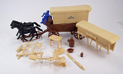 CTS755B Supply Wagon  (brown) w/2 diff. (cream) tops, 1:32 ClassicToySoldiers