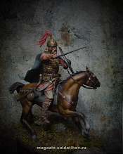 MM-7510 Mounted germanic warrior, 75 mm. Mercury Models