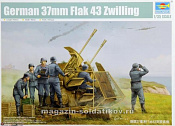 02347 Зенитное орудие  German 37mm Flak 43 Zwilling (1:35) Трумпетер