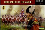 140 Highlanders on the March (1/72) Strelets