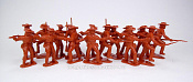 TMP102B Confederates 16 figures in 4 poses (brown) 1:32, Timpo
