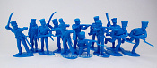 TMP106D Prussian Infantry 12 fig's in 8 poses blue 1:32, Timpo