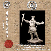 C-75-005 Winner, Europe 15th c. 75 mm (1:24) Medieval Forge Miniatures