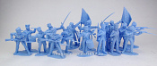 TMP104B British Infantry 16 figures in 8 poses (light blue) 1:32, Timpo