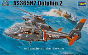 05106 Вертолет AS365N2 Dolphin 2 Helicopter, 1:35 Трумпетер