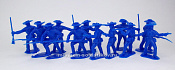 TMP102D Confederates 12 figures in 4 poses (blue) 1:32, Timpo