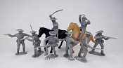 TMP102A Confederates infantry plus cavalry w/horses 8 figures (gray) 1:32, Timpo