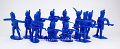 TMP103B French Grenadier Infantry 12 figures in 8 poses blue 1:32, Timpo